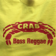 CRAB BOSS REGGAE T-SHIRT YELLOW & RED